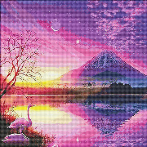 5D Full Drill Diamond Mosaic Embroidery Sunset Over Craft Art Decor Gifts Home