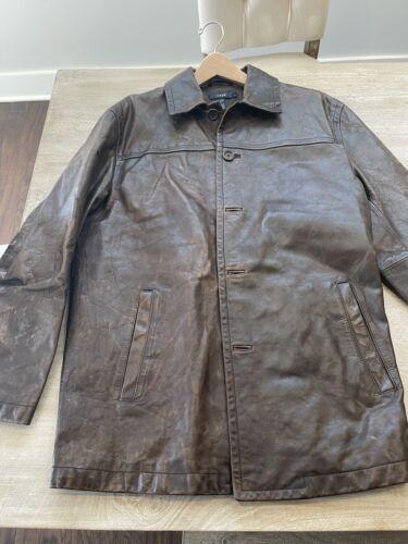 Jcrew Vintage 100% Genuine Leather Brown Large Coa