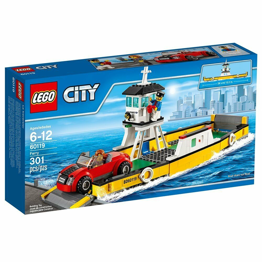 Lego Town City Harbor Set 60119-1 Ferry Brand New In Sealed Box