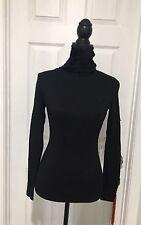 Lauren Ralph Lauren Petite Sweater, Turtleneck Long-Sleeve Co Black PS B7-17