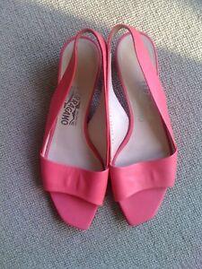 rose Slingback sandales 5 6 élégante de £ Paire 495 Uk 6 corail Ferragamo Rrp qIf1R
