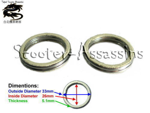 2x EXHAUST GASKET for YAMAHA Aerox 50,Vino 50,Zest 50