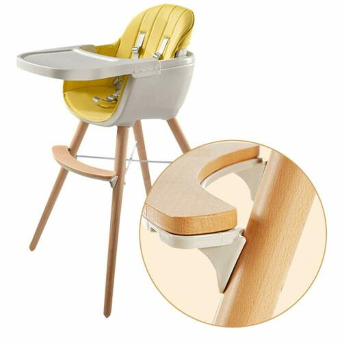 Wooden Baby High Chair Tray Seat Toddler Feeding Solution Highchair Adjustable