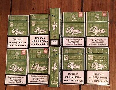 10 PEPE Rich Metalldosen Zigaretten Schachtel 1 Ascher 2 Kulli NEU 1 Feuerz