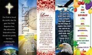 Details about Bible Bookmark Assortment John 3:16 Sun  School 2