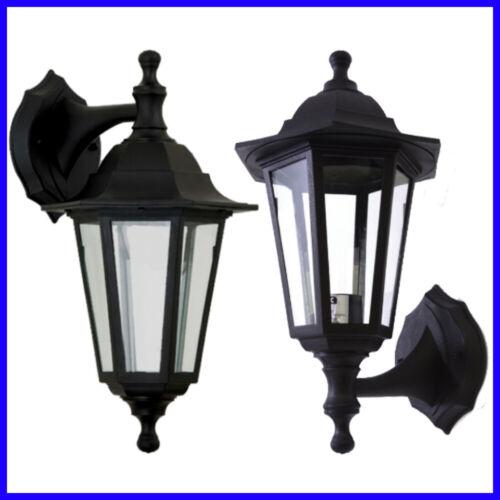 LED Nero Giardino Tradizionale Vittoriano Patio Outdoor Up Down FULL Lanterna Illuminazione