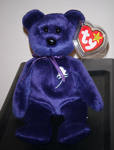 Ty Beanie Baby ~ PRINCESS the (Diana) Bear from 1997 ~ RARE & RETIRED ~ MINT