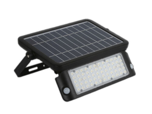 LED Solarleuchte IP65 Wandleuchte Fluter Strahler Außen Solar Scheinwerfer 4000K