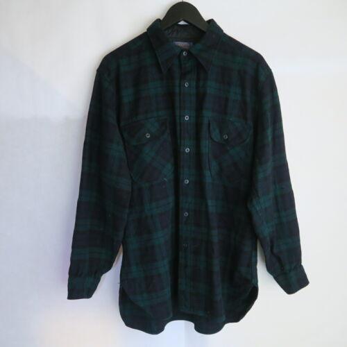 VINTAGE Pendleton Flannel Pure Virgin Wool Black W