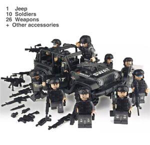 SWAT-Car-10-SWAT-Mini-Figures-LEGO-Compatible