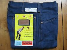 WRANGLER W34 L32 Vintage 1970s Deadstock BNWT Flared Bootcut Denim Jeans