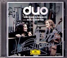 Helene GRIMAUD & Sol GABETTA Signed DUO SHOSTAKOVICH DEBUSSY BRAHMS Cello Sonata