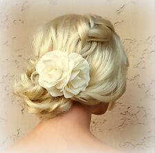 Wedding Hair Accessories, Double Gardenia Flower Hair Clip, Bridal hair Clip