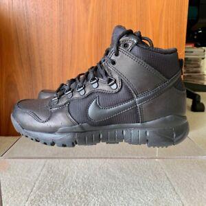 buy online 4de2d 9b1d3 Details about Nike SB Dunk High Boot Men's Size 7 Triple Black 536182-001