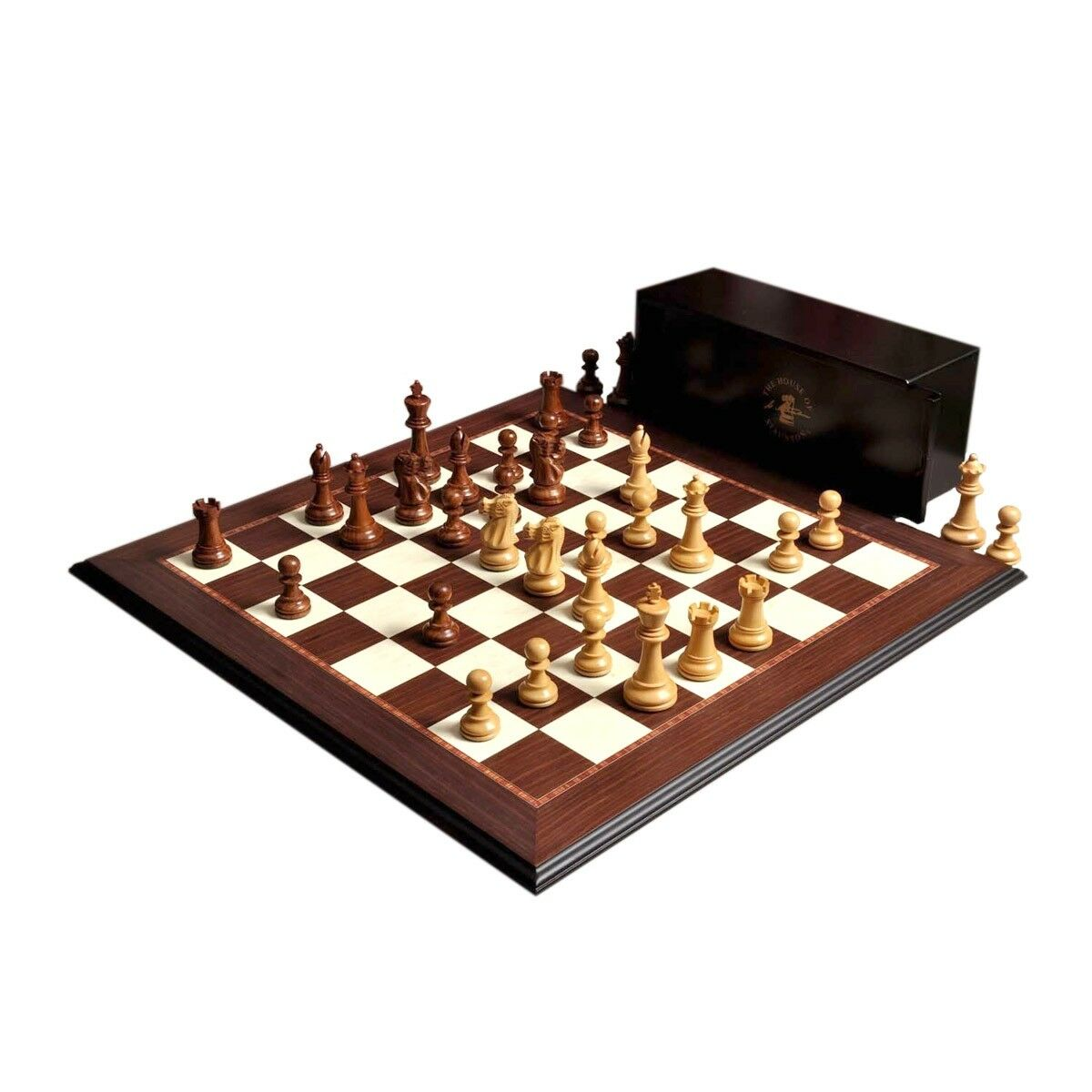 The Wild Knight Series Chess Set, Box, & Board Combination - 3.75  King - oroen