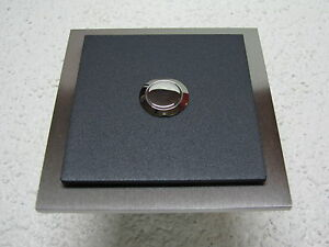 Klingelplatte-Anthrazit-Edelstahl-4-mm-Design-Verona-Klingel-Tuerklingel-Taster