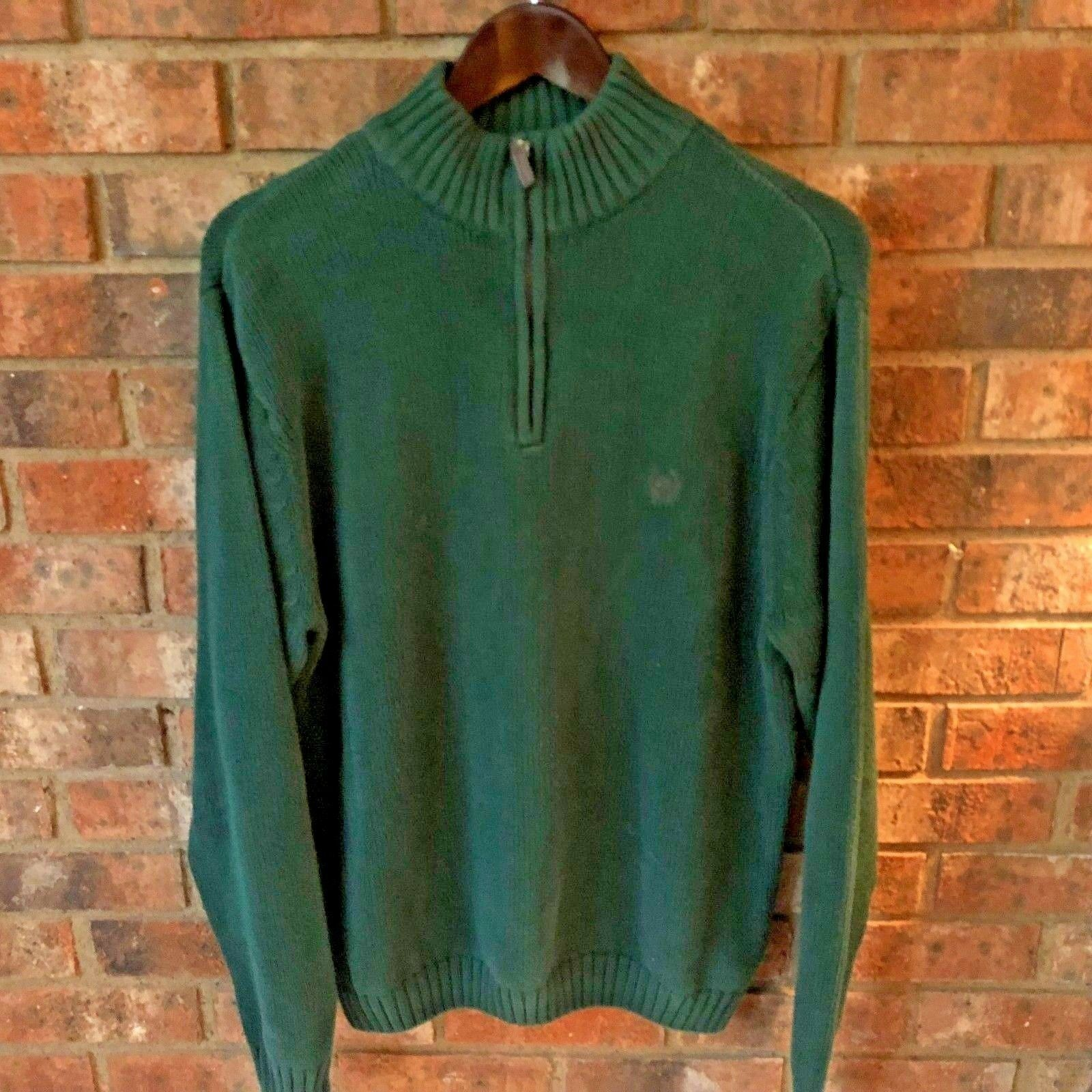 Chaps Zip Top Sweater Large