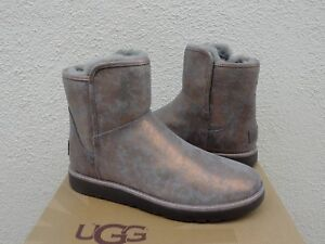 f00cbfbc175 Details about UGG ABREE MINI STARDUST GUNMETAL SUEDE SHEARLING ANKLE BOOTS,  US 8/ EUR 39 ~NIB