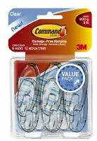 Command Medium Hooks, Clear, 6-hook , New, Free Shipping on sale