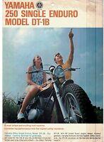 1969 Yamaha 250 Single Enduro Model Dt-1b Original Sales Brochure(reprint) $7.50