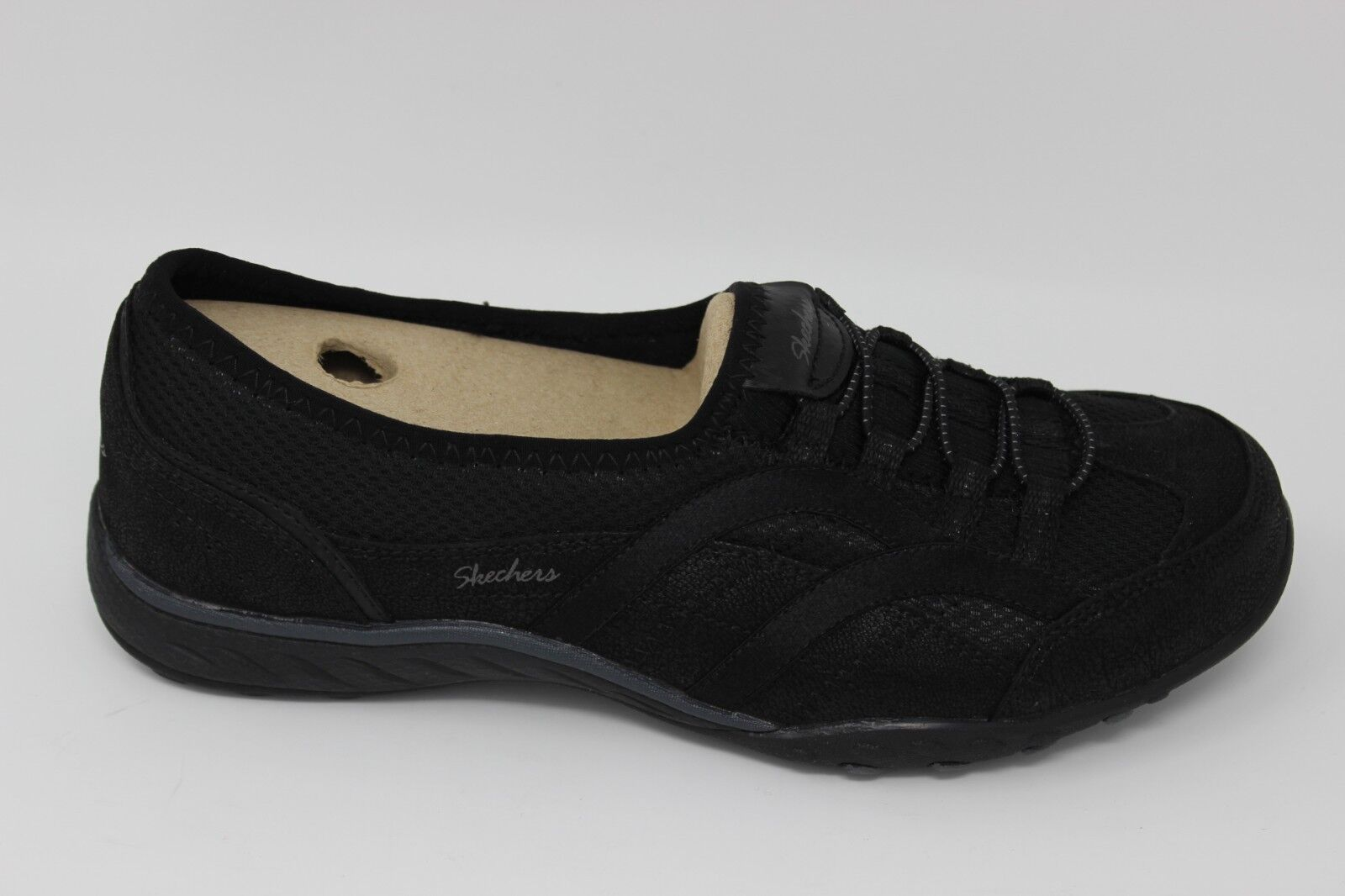 Skechers Women's Breathe-Easy-WELL VERSED 23203W Wide Black Brand New