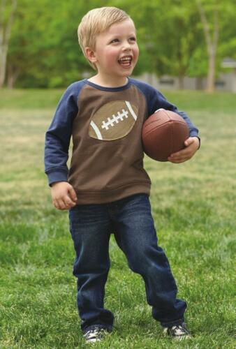 Mud Pie Boy All Boy Collection Game Day Raglan Style Football Sweatshirt 1052147