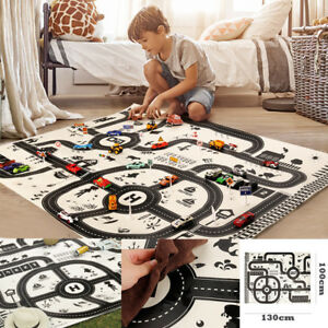 Kids-Play-Mat-City-Road-Buildings-Parking-Map-Game-Scene-Map-Educational-Toys-AU