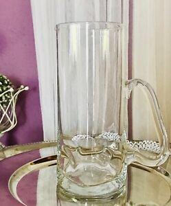 Edel-Krug-Glaskrug-Karaffe-Wasserkrug-Glas-Dubben-Dellen-kunstvoll-Glaskunst