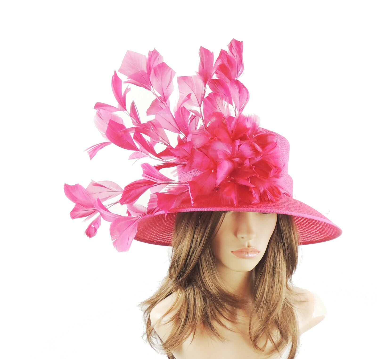Fuchsia Pink Ascot Hat for Weddings, Ascot, Melbourne Cup HA