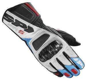 5 Carbone Blanc Str Rouge Carbon Bleu Gants En Homme Daim Pour Cuir Spidi 45zwCqS