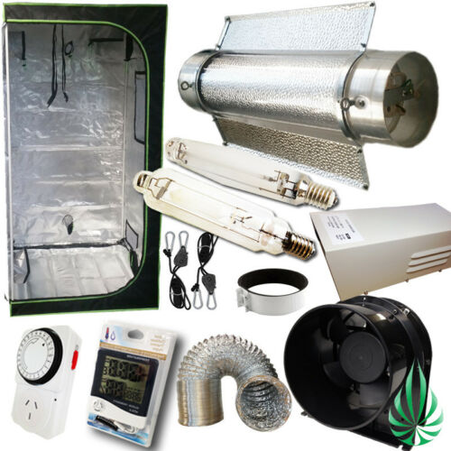 "Hydroponics 400W HPS MH Grow Light Tent 6"" Ventilation Cool Tube Reflector Kit"