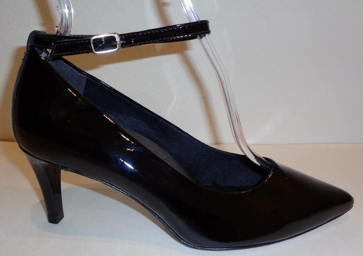 Walking Cradles Size 7 WW 4E SIDELINE Black Patent New Womens Heels Pumps shoes