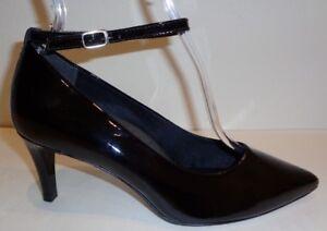 ec81c11f55fb Walking Cradles Size 6 WW 4E SIDELINE Black Patent New Womens Heels ...