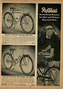1947 Paper Ad Rollfast Bicycle Michiana Flyer Irish Mail Scooter Pedal Car Ebay