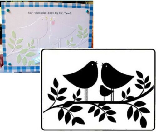 Tweet Tweet embossing folder Crafts Too emboss folders CTFD4017 Animals,bird