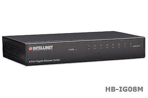 Intellinet 530347 8-Port Gigabit 10//100//1000 Mbps Ethernet Desktop Switch
