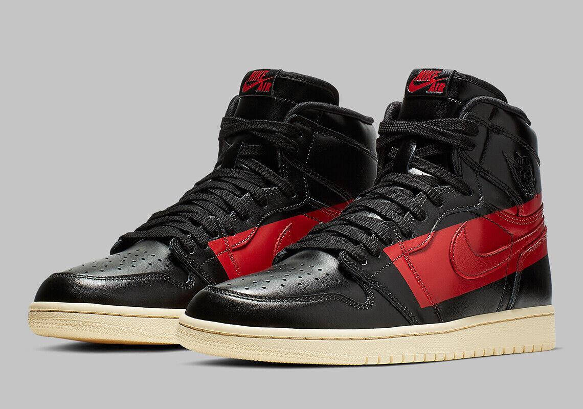 Nike Air Jordan 1 Retro High OG SZ 8 Black Red Muslin BQ6682-006
