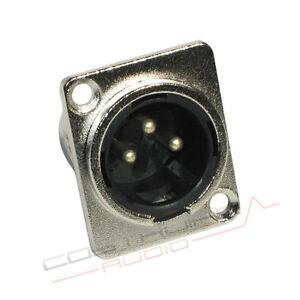 CONNETTORE-XLR-MASCHIO-DA-PANNELLO-3-POLI-in-metallo-Alta-qualita-panel-plug