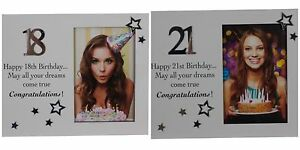 18th-or-21st-Birthday-Photo-Frame-Gift-Canvas-Style-White-Modern-with-Stars