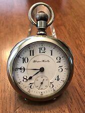 1900 Hampden New Railway 23 Jewel Gold Setting Pocket Watch DUEBER Case