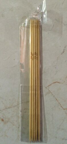 "US Seller Set Of 5 Bamboo Double Point Knitting Needles 5/"" Your Choice Of Size"