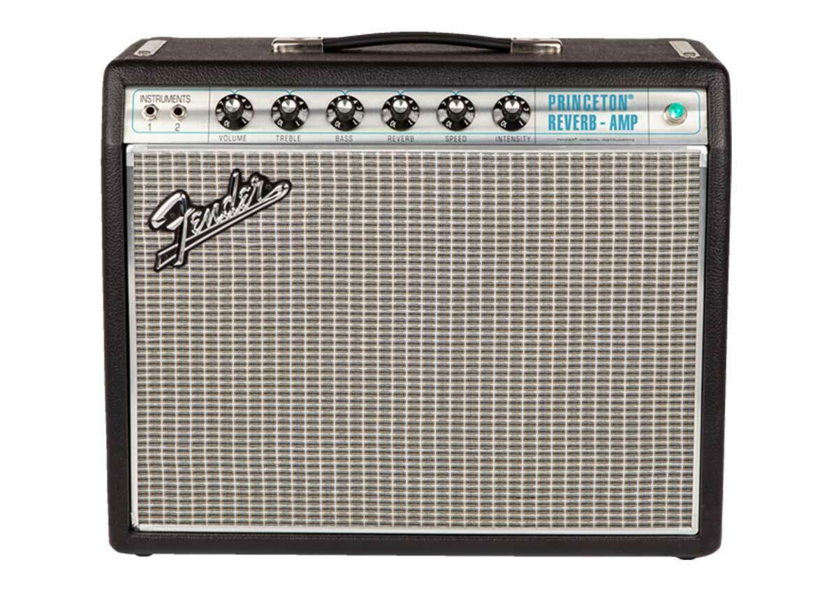 Fender '68 Custom Princeton Reverb 120v Tube Amplifier Silver - Used. Available Now for 831.31