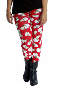 image is loading new womens leggings plus size christmas ladies snowman