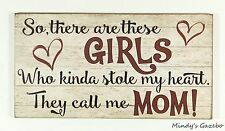 PRIMITIVE COUNTRY WOOD GIRL DAUGHTER  MOTHER SIGN HANDMADE HOME WALL DECOR 1253