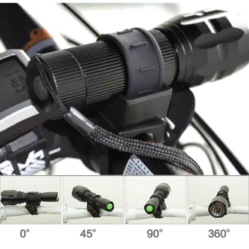 360 Degree Bicycle Flashlight  Mount LED Head Light Holder Clip Fashion Clamp