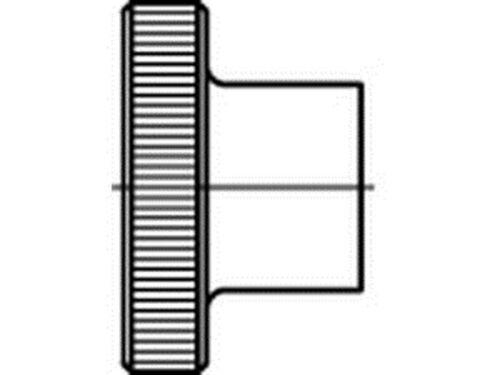 DIN 466 Rändelmutter Edelstahl A2 hohe Form Mutter Muttern
