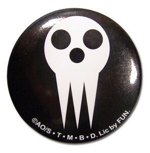 **Legit** Soul Eater Soul Eater Logo Symbol 1.25/'/' Authentic Anime Button #16036