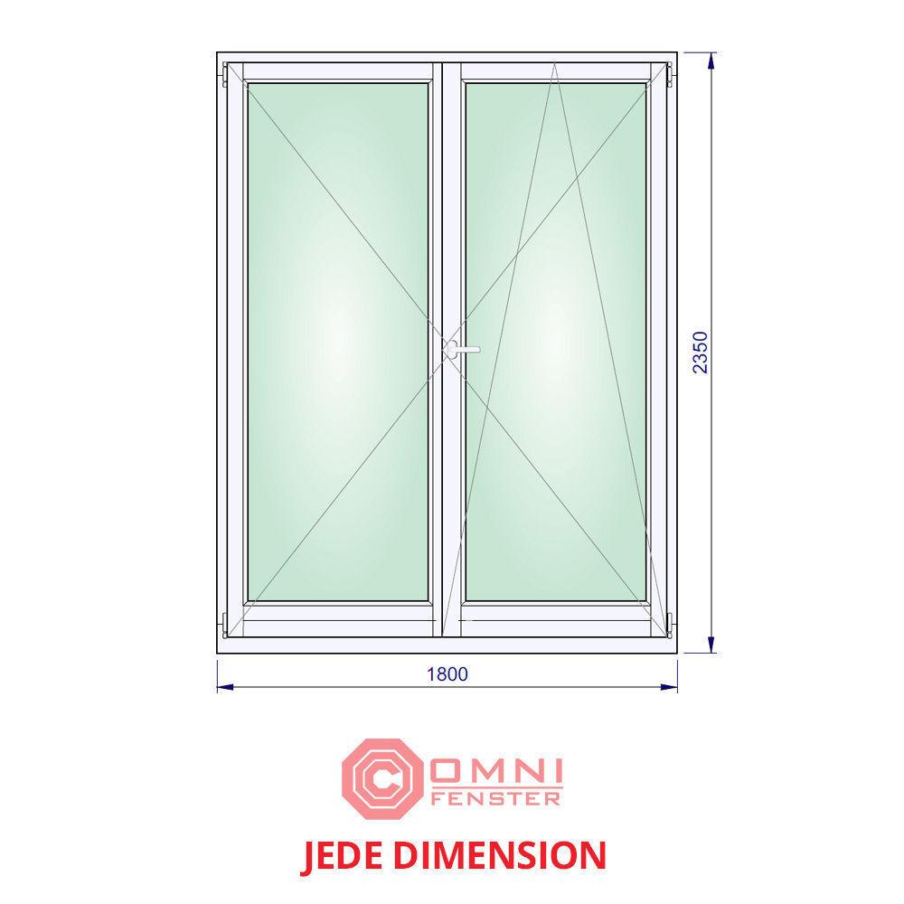 Holz Fenster 180 x 235cm Meranti Holzfenster 2-flüg SUPER PREIS