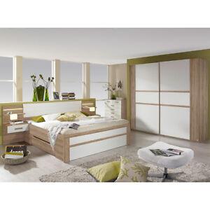 Schlafzimmer Set Bernau Bett Nako Schwebeturenschrank In Eiche