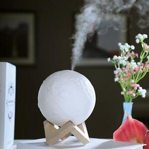 880mL Air Humidifier 3D Moon Lamp Aroma Oil Diffuser Air Purifier Mist  Maker | eBay